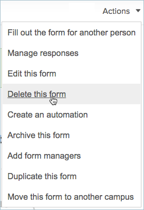 managing forms